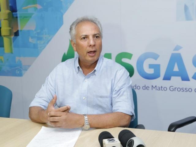 Rudel Trindade Júnior, diretor-presidente da MSGás, em coletiva de imprensa (Foto: Kísie Ainoã)