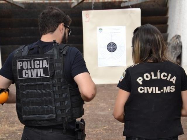 Policiais civis em Campo Grande (Foto: Divulgação - Policia Civil)