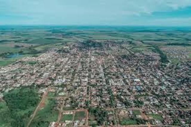 Vista aérea da cidade de Caarapó (Foto: Divulgação)
