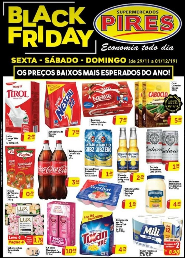 Veja aqui os preços sensacionais do Black Friday do Supermercado Pires em Deodápolis