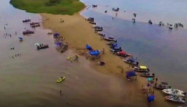 Local onde ocorreu afogamento. Foto: Divulgação