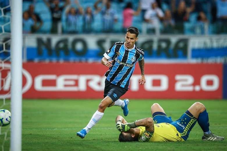 Douradense marca na vitória do Grêmio contra o Cruzeiro - Crédito: Lucas Uebel/Grêmio/Divulgação