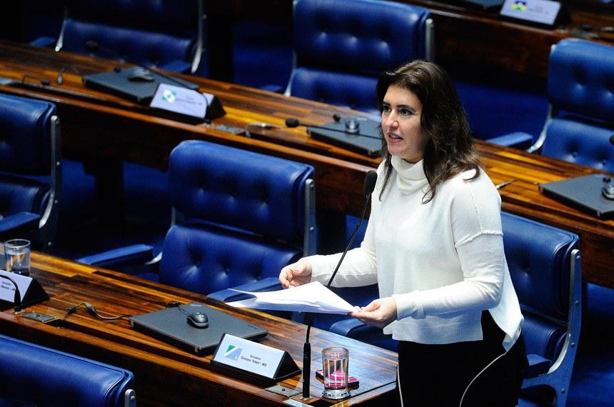 A senadora Simone Tebet (Agência Senado)