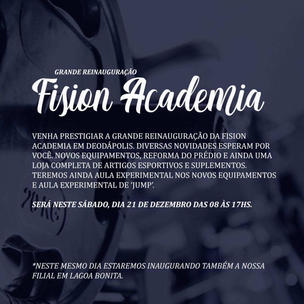 Na comemoração de 25 anos, A Fision Academia vai reinaugurar com diversas novidades