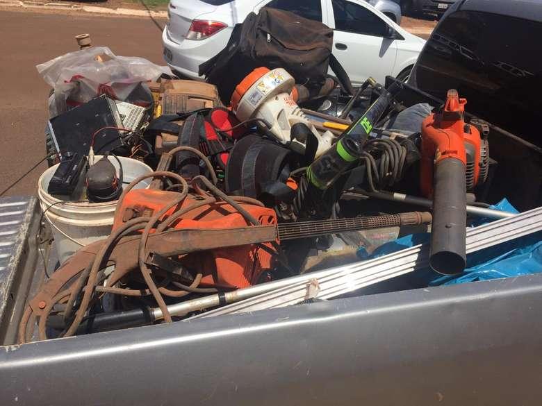 Produtos foram apreendidos após investigações de policiais militares da ALi - Crédito: Divulgação/PM
