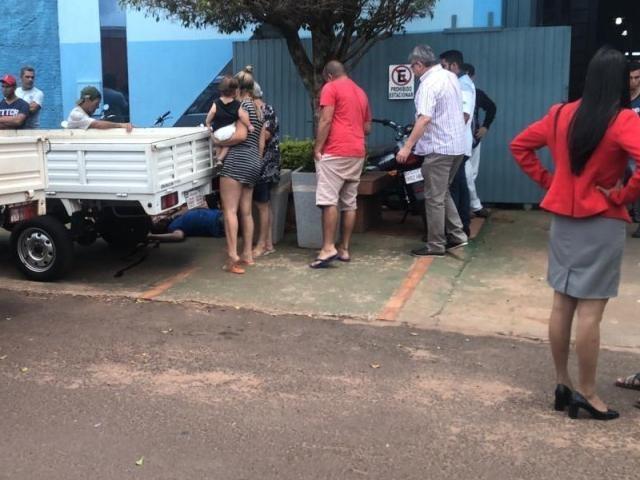 Local onde funcionário de vidraçaria foi morto a tiros, em Pedro Juan Caballero - Crédito: Divulgação