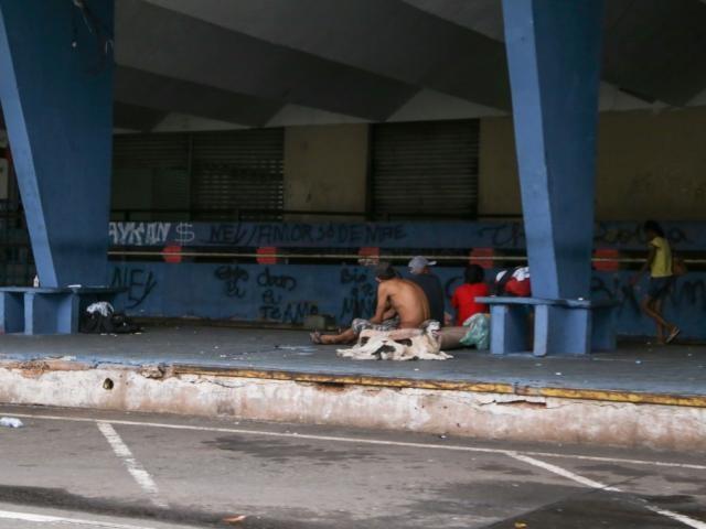 Instalações da antiga Rodoviária de Campo Grande se tornou ponto para uso de drogas como o crack (Foto: Arquivo/Kisie Ainoã)