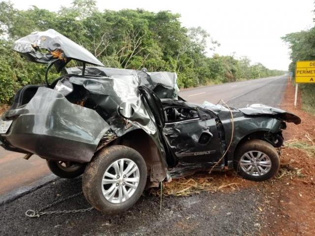 Seguro indeniza vítimas de acidente de trânsito, como este na BR-262, em Mato Grosso do Sul (Foto: Direto das Ruas)