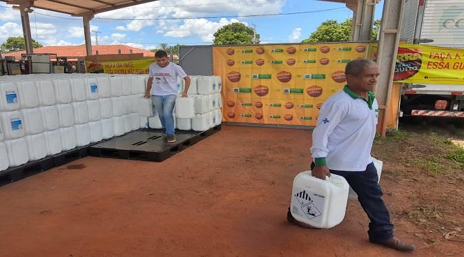 Mato Grosso do Sul recebeu do Ministério da Saúde 9.600 litros de inseticida Malathion - Crédito: Divulgação