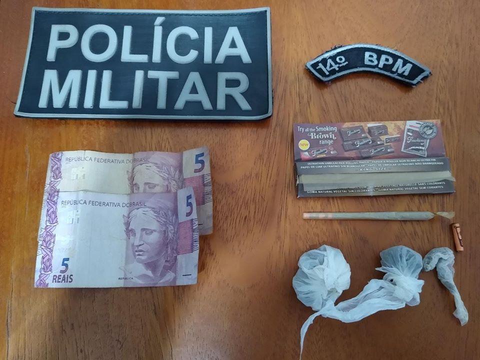 Jovens foram detidos com maconha próximo a clube em Deodápolis
