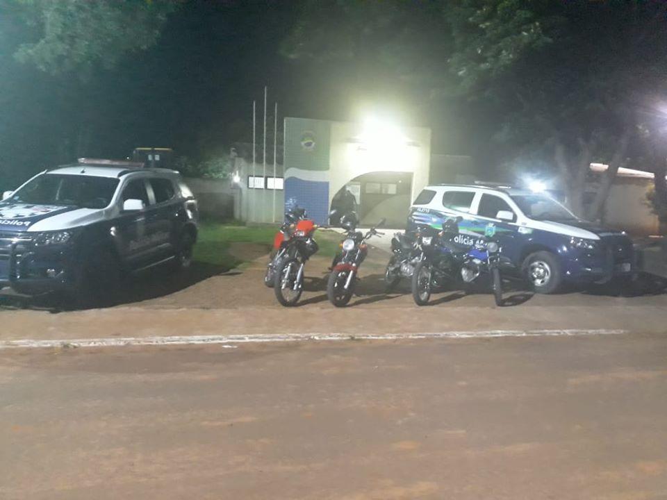 Na Lagoa Bonita, motociclistas foram flagrados praticando direção perigosa