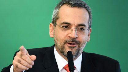 O ministro da Educação, Abraham Weintraub, em 9 de abril de 2019 (Crédito: AFP/Arquivos)