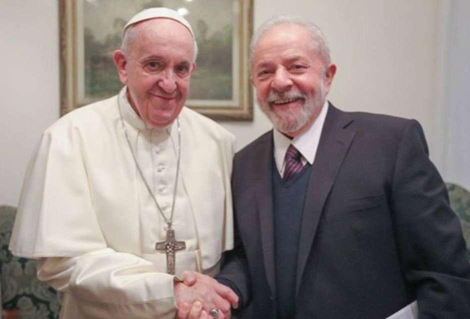 O Papa Francisco e o ex-presidente Lula Foto: Instagram Lula / Estadão Conteúdo