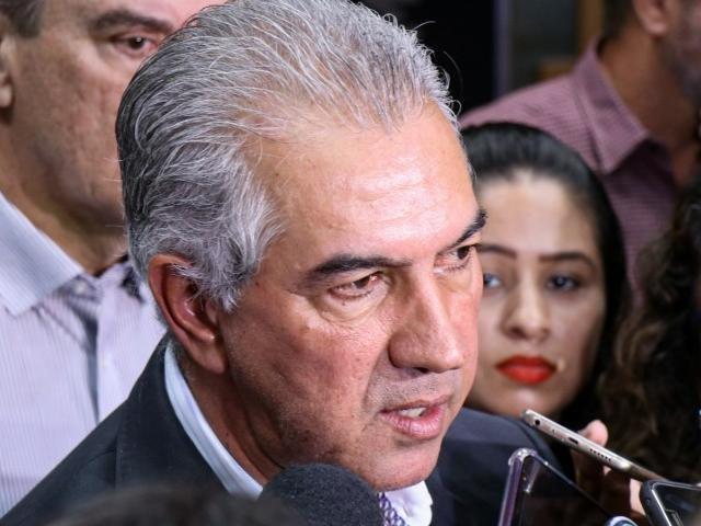 Governador Reinaldo Azambuja (PSDB) participou nesta segunda-feira (17) de encontro estadual no Centro de Convenções Rubens Gil de Camillo (Foto: Henrique Kawaminami)