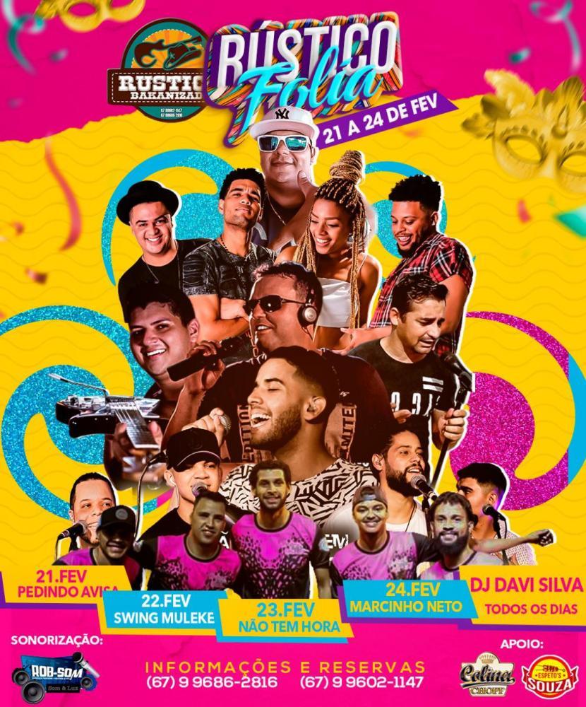 Rustico Folia 2020 terá 4 noites de carnaval com shows especiais em Deodápolis
