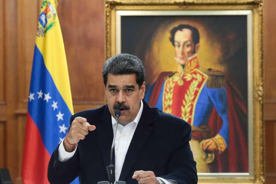 Maduro participa de reunião no Palácio Miraflores, em Caracas 4/5/2020Miraflores Palace/via REUTERS Foto: Reuters