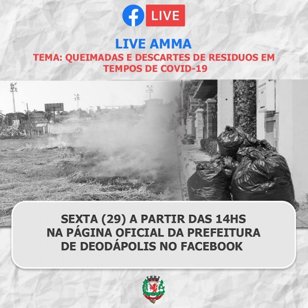 AMMA fará live nesta sexta com tema relacionado ao descarte de resíduos no período da pandemia