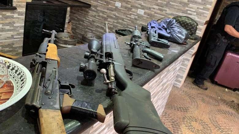 A organização traficava armas - Crédito: Divulgação