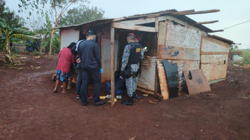 Crime ocorreu em área de invasão ao lado da aldeia bororó em Dourados Foto: Cido Costa
