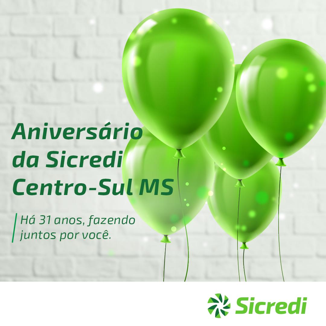 Sicredi Centro-Sul MS comemora 31 anos de história