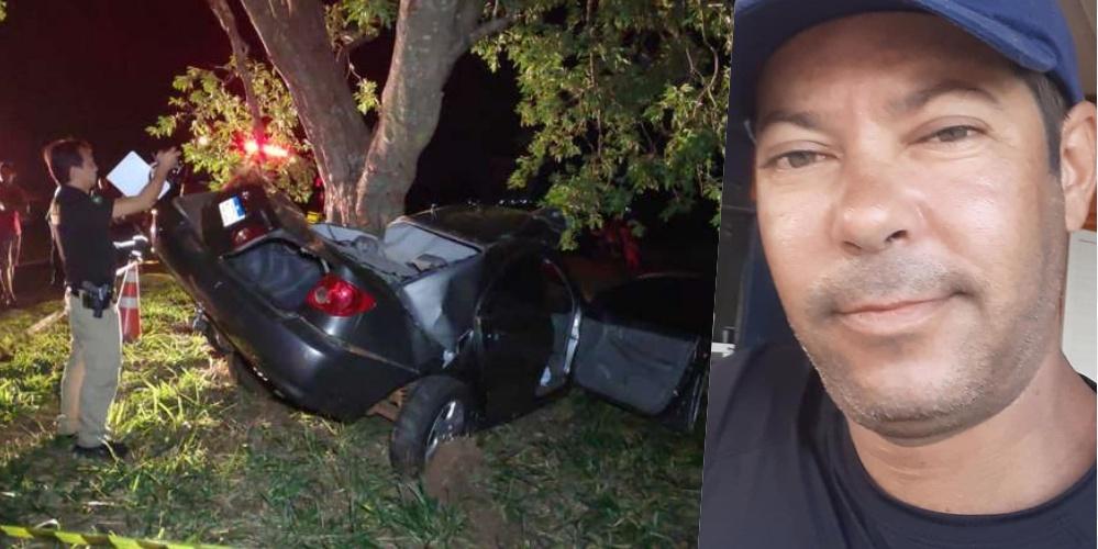 Foto do acidente: Osvaldo Duarte / Dourados News - Foto do comerciante: Redes Sociais.