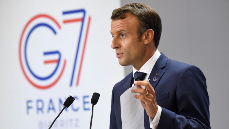 Macron responde Bolsonaro durante encontro do G7