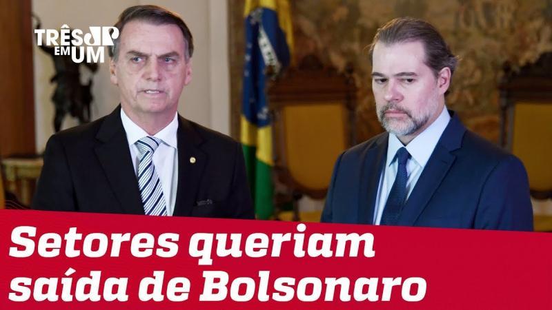 Toffoli diz que teve que intervir em um possível pedido de impeachment contra Bolsonaro